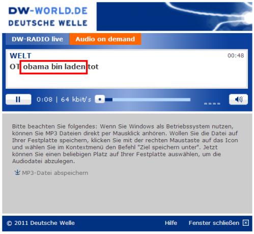 Al Qaeda no existe - Bin Laden ha muerto Error-dwworld