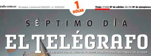 EL TELEGRAFO 7D tiraje 17000